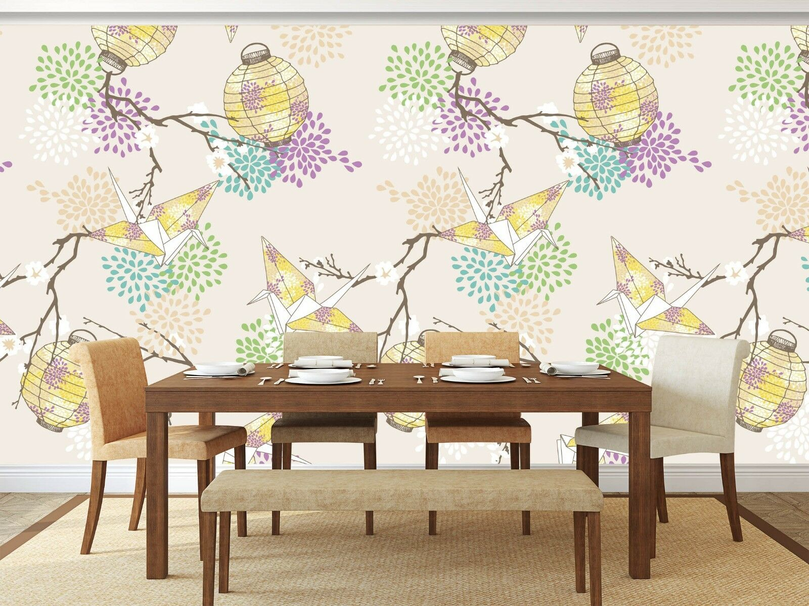 3D Bird Flower 809 Wall Paper Print Wall Decal Deco Indoor Wall Murals US Summer