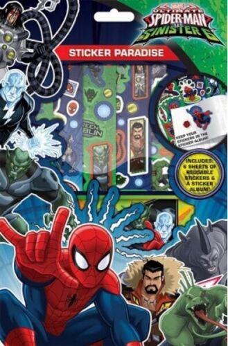 Marvel Spider-Man V sinistre 6 Autocollant Paradise-Livre Album /& Réutilisable Stickers