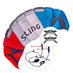 Flexifoil Power Kite 2.4 m2 Sting Trucchetti Sport Kite per Bambini e Adulti
