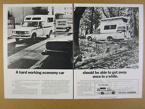 Details about 1976 Toyota-Chinook RV Mini Motorhome truck camper 2x photo  vintage print Ad