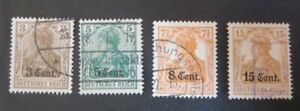 "GERMANY STAMPS  USED 1916 WWI ""DEUTSCHES REICH"" BELGIUM/FRANCE OCCUPATION"