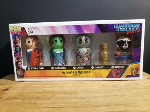 Pin Mate Guardians of the Galaxy 2 en bois Chiffres Marvel Star-Lord Gamora...
