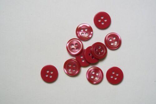10pc 10mm rouge cerise cardigan pantalon shirt kids baby bouton 0532