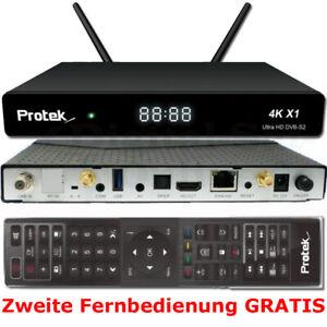 Protek X1 4k Uhd 2160p Dvb S2 Linux E2 Hdtv Receiver Wlan 2x Fb Gratis Ebay