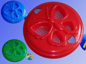 2in1-Frisbee-u-Strand-Sieb-24cm-Schmetterling-Wurfscheibe-Sand-spielzeug