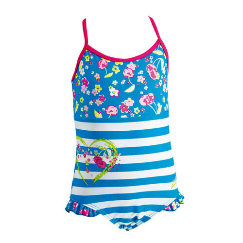 """Zoggs Girls Swimming Costume Clarity Crossback Size 22/"""" 3-4 years"""