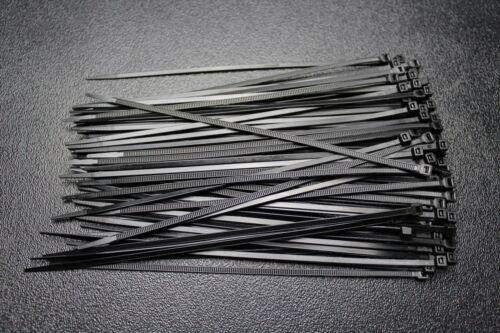 600 PK 11 14 18 INCH ZIP TIES 200 EACH NYLON BLACK 40 LBS UV WIRE CABLE STRAP