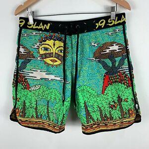 69-Slam-Mens-Board-Shorts-Size-32-Multicoloured-Retro-Drawstring