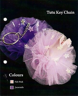 Ballet Dance Tutu Key Ring or Key Chain, Pink or Mauve, New