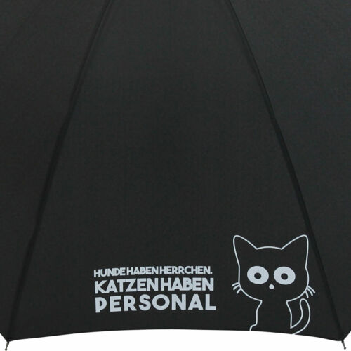 "Regenschirm Stockschirm groß stabil Automatik bedruckt /""Katzen haben Personal../"""