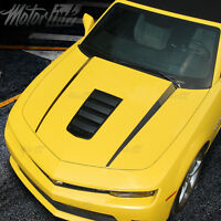 2014 2015 Chevy Camaro Hood Strobe Side Spears Accent Stripes Decals Blackout 16
