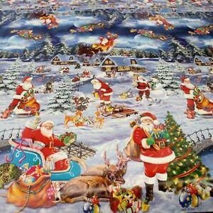 blau wachstuch tischdecke f r weihnachten abwaschbar tischdeko weiche meterware ebay. Black Bedroom Furniture Sets. Home Design Ideas