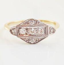 Stunning Antique Art Deco 18ct Gold Diamond set Ring c1925; UK Ring Size 'O 1/2'