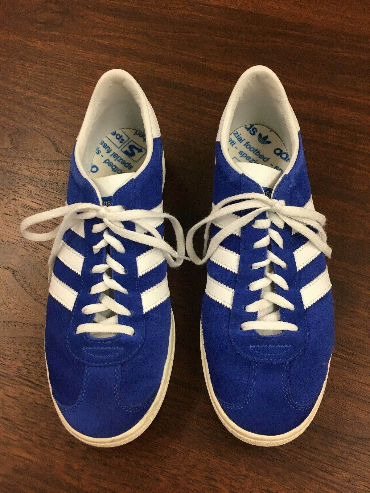 Adidas Originals men's sneakers royal bluee suede US 9