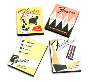 (4) Véritable Vintage Fender Lounge Series Catalogue Aimants De Réfrigérateur 910-0001-000-afficher Le Titre D'origine BéNéFique Au Sperme