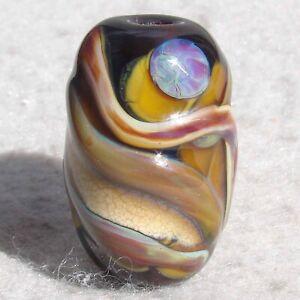 BARREL-AGED-Handmade-Art-Glass-Focal-Bead-Flaming-Fools-Lampwork-Art-Glass-SRA