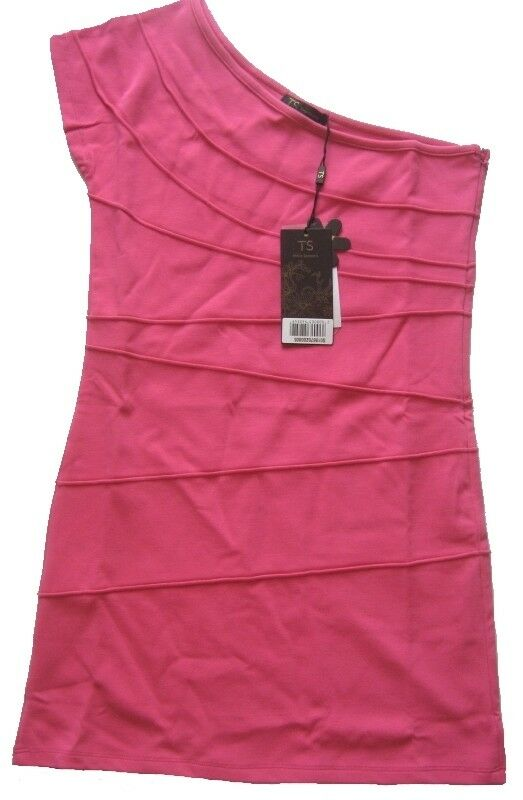 Three Seasons Donna Abito rosa Taglia XL ONE SHOLDER