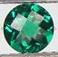 4mm-20mm Verde Esmeralda Sintético Nano Cristal Piedras Redondas de tablero de ajedrez suelto