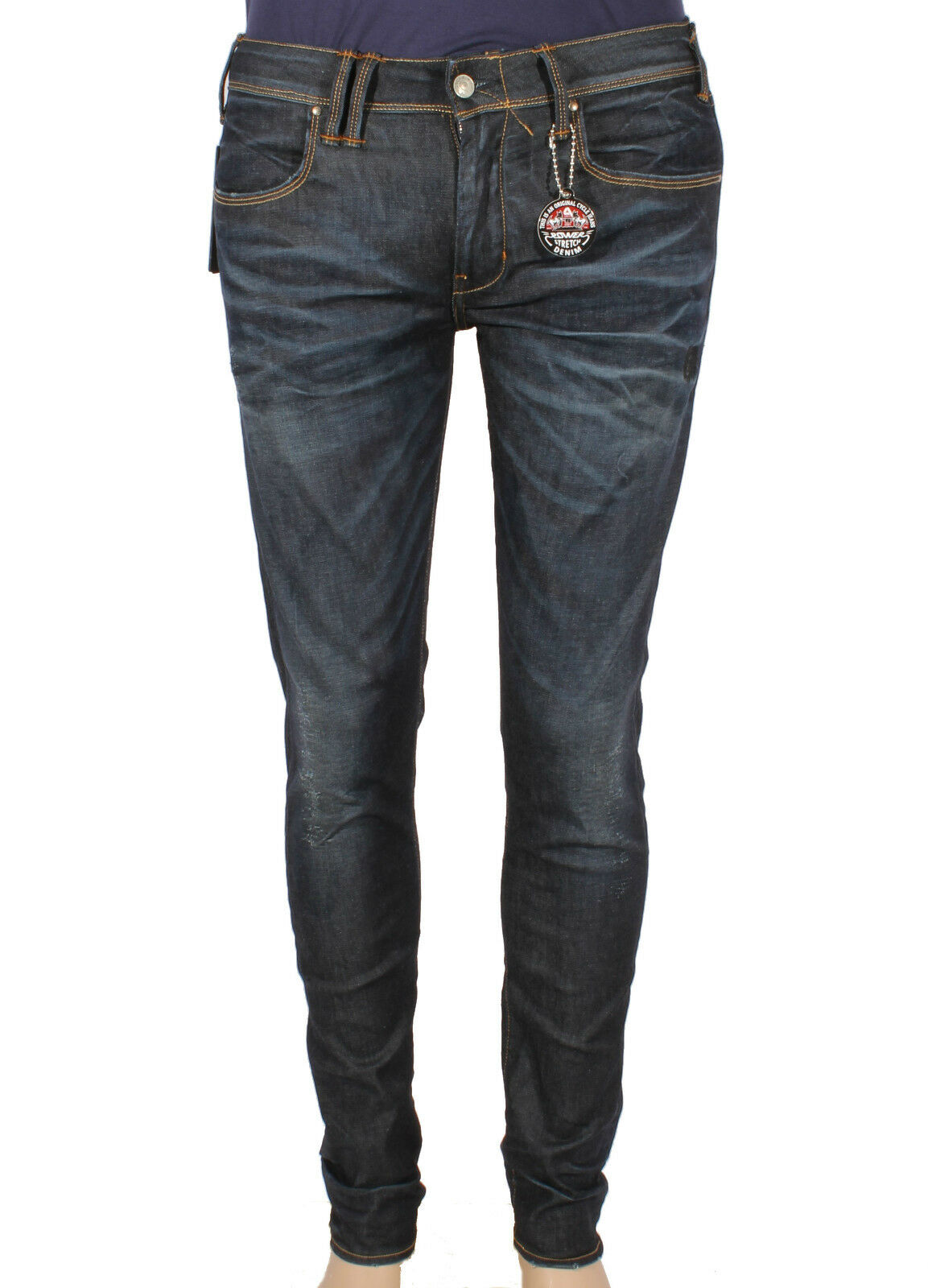 Vaqueros de hombre CYCLE MPT000 D975 superstretch compacto denim
