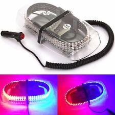240 LED Car Strobe Warning Lamp Emergency Magnetic Hazard Beacon Light Red+Blue