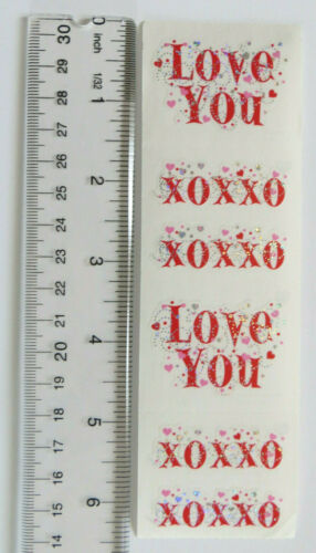 Reflections Mrs Grossman EXPRESSIONS VALENTINE Strip of /'Love You/' Stickers