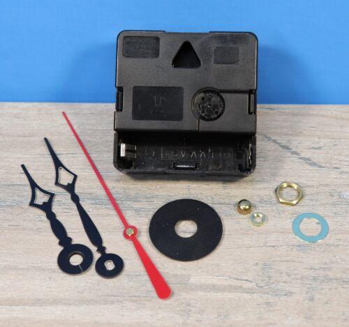 """Quartex Q-80 Quartz Battery Clock Movement 1//8/"""" Thick Dial 9//16/"""" Shaft TERRY"""
