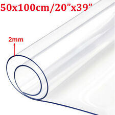 2mm Clear Plastic Table Cloth Cover Wipeable PVC Waterproof Protector 160 x 90cm