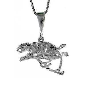 Sterling silver panther pendant charm ebay image is loading sterling silver panther pendant charm aloadofball Image collections