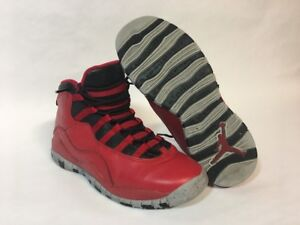 8caee044c6 Nike Air Jordan X 10 Retro 30th Red Bulls Over Broadway 705179-601 ...
