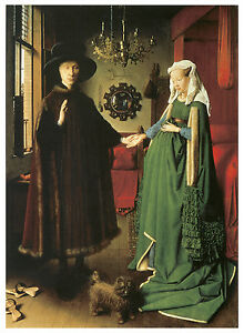 Van Eyck The Marriage of Giovanni Arnolfini Art Canvas//Poster Print A3//A2//A1