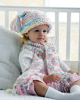 Little girl winter hat and scarf set- knitting pattern age 2- 6 years