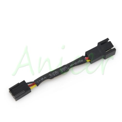 PC Cooling Fan 3pin Female to 3pin Male Noise Speed Reduction 30/% Resistor Cable