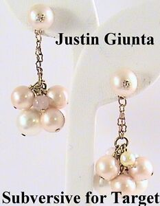 Details about Awesome Faux Pearl Drop Earrings Justin Giunta Subversive for  Target Gift Stock