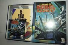 STAR WARS REBEL ASSAULT USATO PC CDROM EDIZIONE INGLESE BIG BOX ML3 51628