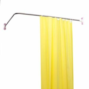 Image Is Loading L Shaped Extendable Telescopic Shower Curtain Rail Bath