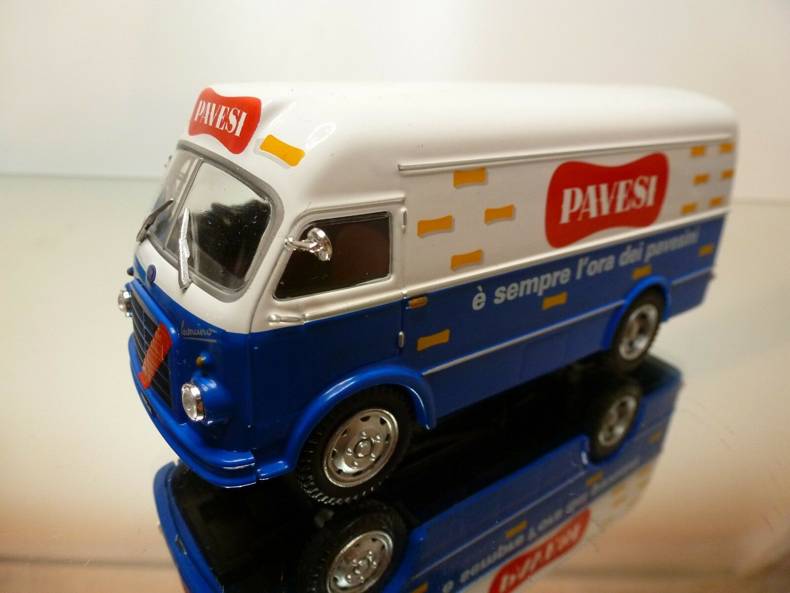 VADIS - OM FIAT LEONCINO FURGONE 1960 1960 1960 - azul + blanco 1 43 - EXCELLENT - 37 519dbd