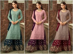 Sharara-Salwar-Kameez-Indian-Pakistani-Suit-Designer-Dress-New-Shalwar-Kameez-RD