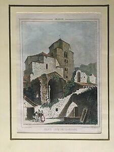 Charmant Aragon, Santa Cruz De La Serós , Parcerisa 1839-1865 Avec Des MéThodes Traditionnelles
