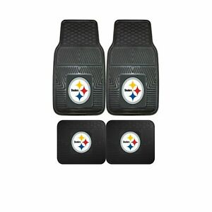 Pittsburgh-Steelers-NFL-2pc-and-4pc-Mat-Sets-Heavy-Duty-Cars-Trucks-SUVs
