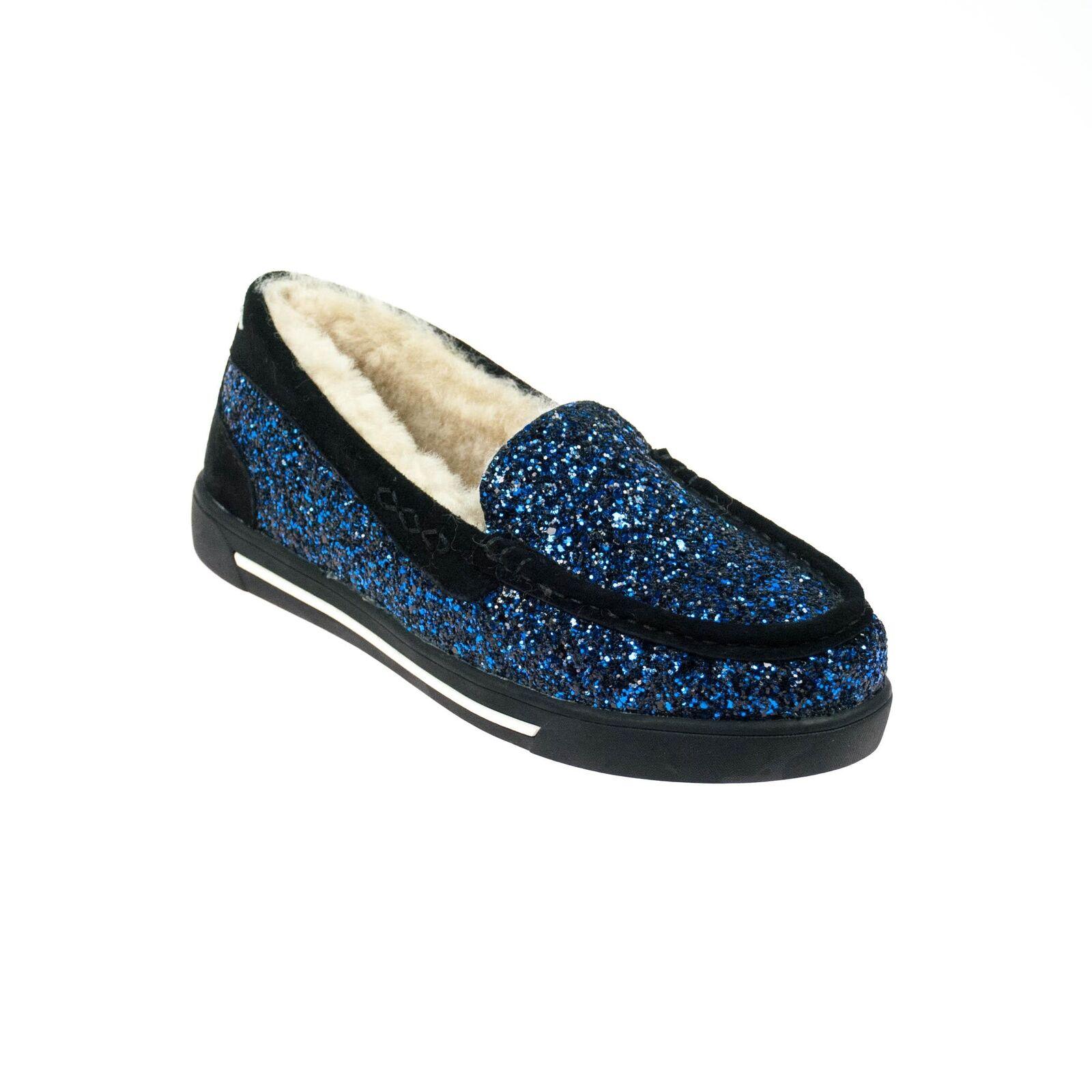 Movie's señora semi zapato Slipper azul brillo forradas forradas brillo 8738d5