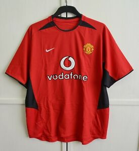 Nuovo di zecca! Manchester United 2002/2003/2004 VINTAGE HOME SHIRT JERSEY KIT Nike Taglia L
