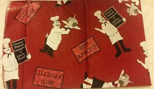Fat Chef Peva Vinyl Red Bon Appetit Tablecloth 60 Quot Round