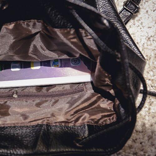 Black Fashion Women Leather Handbag Backpack Travel  Rucksack Shoulder Bag Cheap