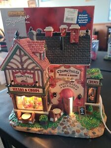 Lemax 2011 Churchill's Bakery & Bistro Signature Collection Village in Box