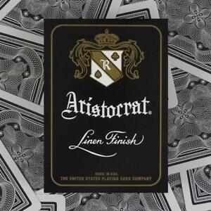 Aristocrat-Playing-Cards-Black-Limited-Edition-Linen-Finish-Magic
