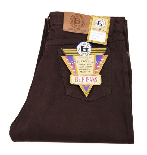 Boy Egle jeans Classic//Straight Leg jeans Brown 100/% Cotton Solid Size 18