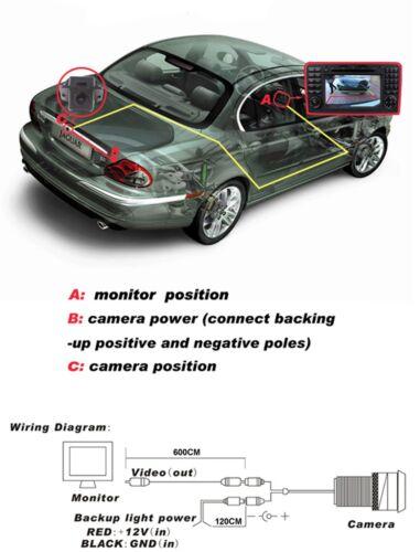 Color Car Reversing Rear-View Backup Camera For Infiniti G35 G37 Sedan 2006-2011