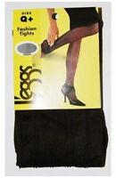 Leggs Brown Fashion Tights Herringbone Pattern Q+ 1 Pair