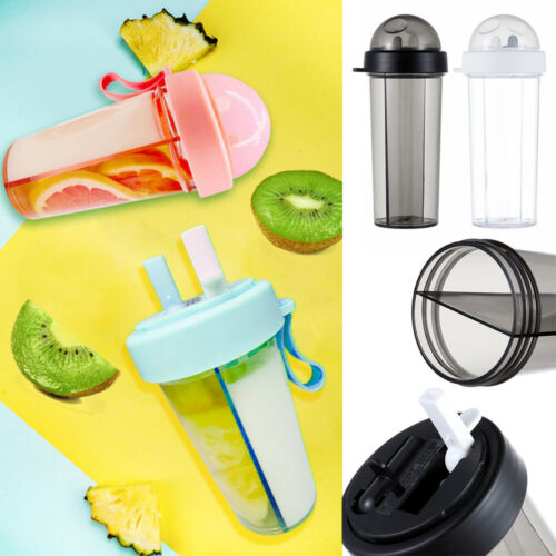 Household Drinking Travel Sport With Straw Water Bottle Separated Dual-Use Cup