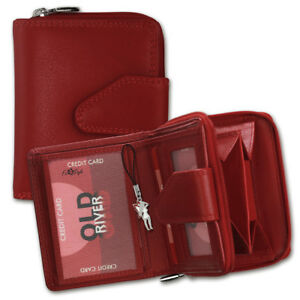 Drachenleder-Purse-Red-Women-039-s-Leather-Purse-OPD104R-Old-River